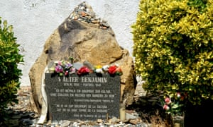The monument to Walter Benjamin in Portbou, Spain.