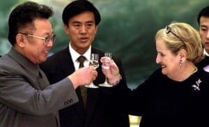 Madeleine Albright with North Korean leader Kim Jong-il, Pyongyang,2000