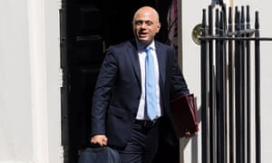 The new chancellor, Sajid Javid.