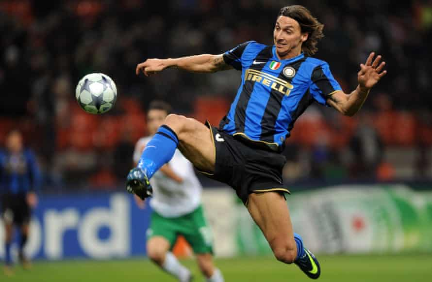 Zlatan Ibrahimovic in action for Inter.