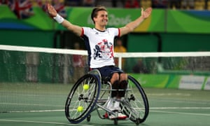 Gordon Reid celebrates his gold medal, crowning a wonderful year that has brought three grand slam titles.