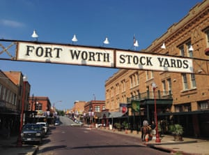 Fort Worth Stockyards in Texas where a multi-million dollar redevelopment is planned.