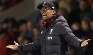 Jürgen Klopp has stood by his decision to rest Liverpool's first-team for Shrewsbury's visit to Anfield next month. He will also be absent from the game.