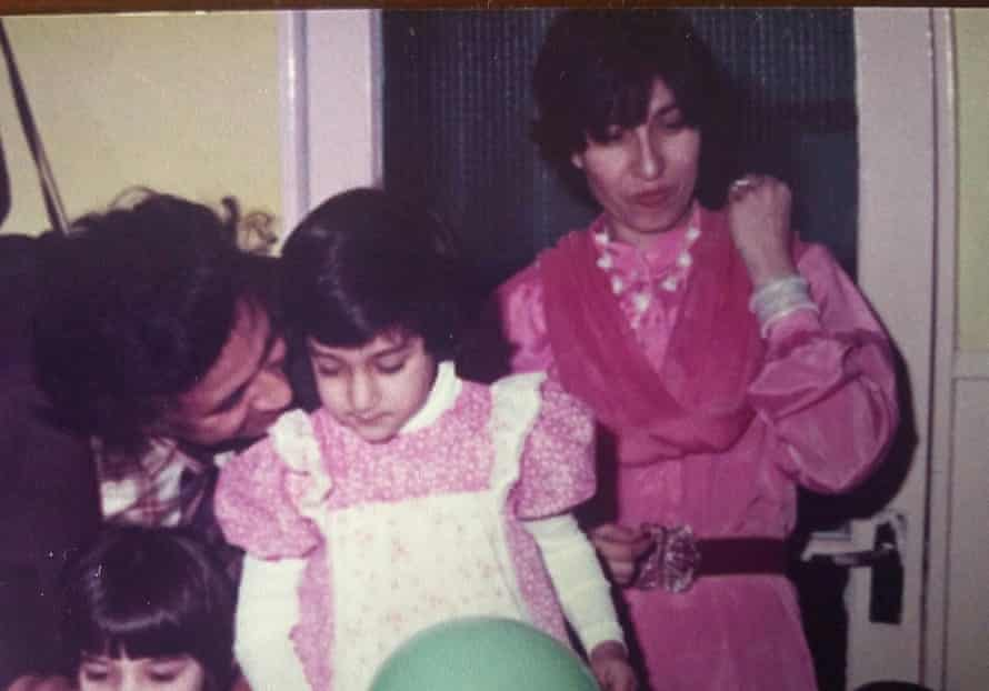 Remona Aly's fourth birthday party at home in Kent with father Ikram and mother Abida