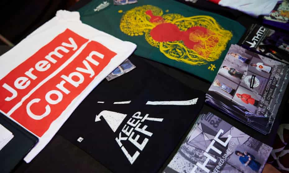 Merchandise at Momentum's The World Transformed event.