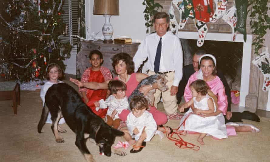 The Kennedy family at the White House at Christmas in 1962