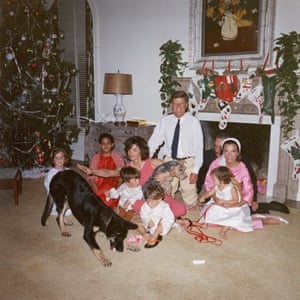 The Kennedy family at the White House on Christmas Day 1962. Lee Radziwill is seated on the right