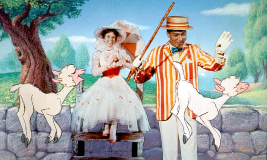 Julie Andrews and Dick Van Dyke in Mary Poppins.