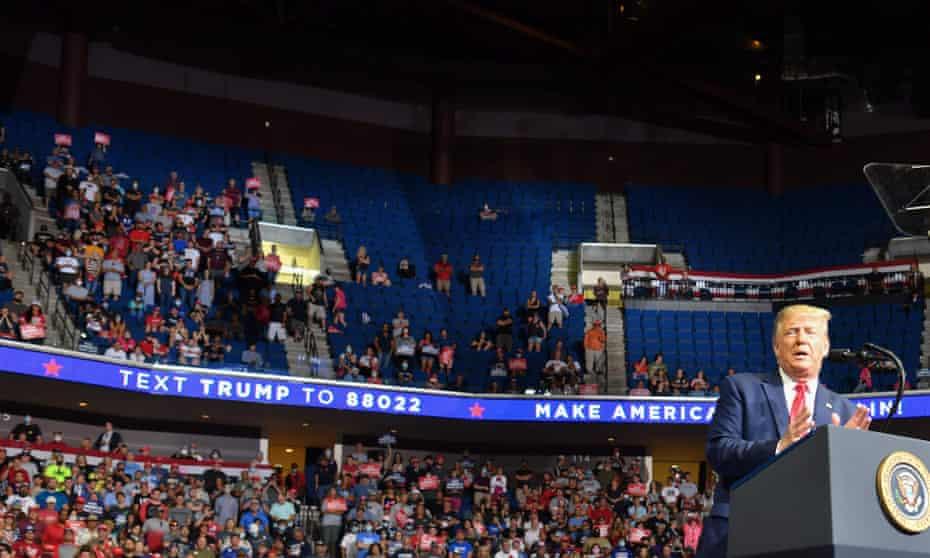 Empty seats at Donald Trump's rally in Tulsa, Oklahoma