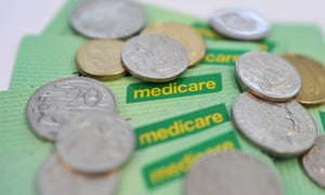 Medicare cards and coins.