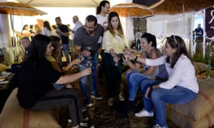 People in Lebanon celebrate wine and the Arab makers in Israel reflect its growing popularity in the region. Photograph: Wael Hamzeh/EPA