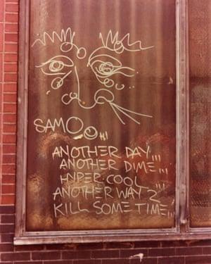 Jean-Michel Basquiat and Al Diaz's SAMO© tag.