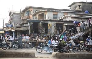Lagos street scene.