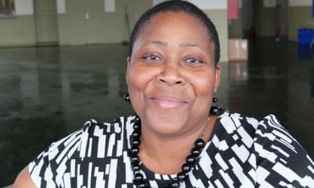 Denise Harris, who works at the Sir Vivian Richards cricket stadium in Antigua
