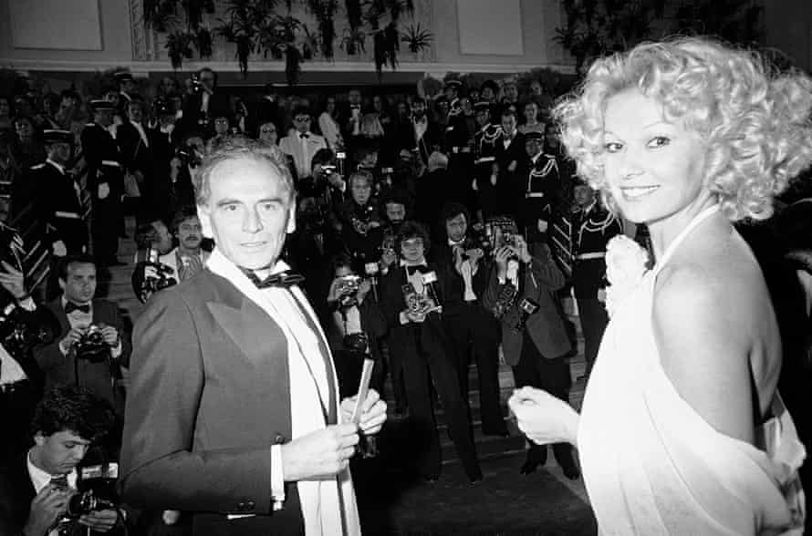 Cardin on the red carpet in Cannes, southern France, in 1979.