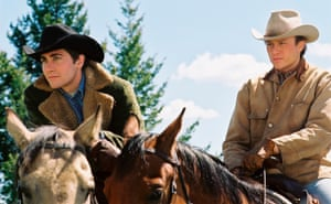 Jake Gyllenhaal, left, and Heath Ledger in Brokeback Mountain.