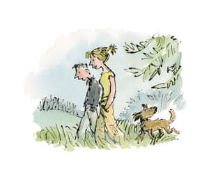 Blake was commissioned by the Vincent Square Eating Disorder Unit to create a series of images, inspired in part by discussions with patients. Here is shown two people walking a dog