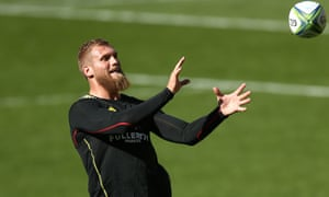 Brad Shields in training for the Hurricanes last month