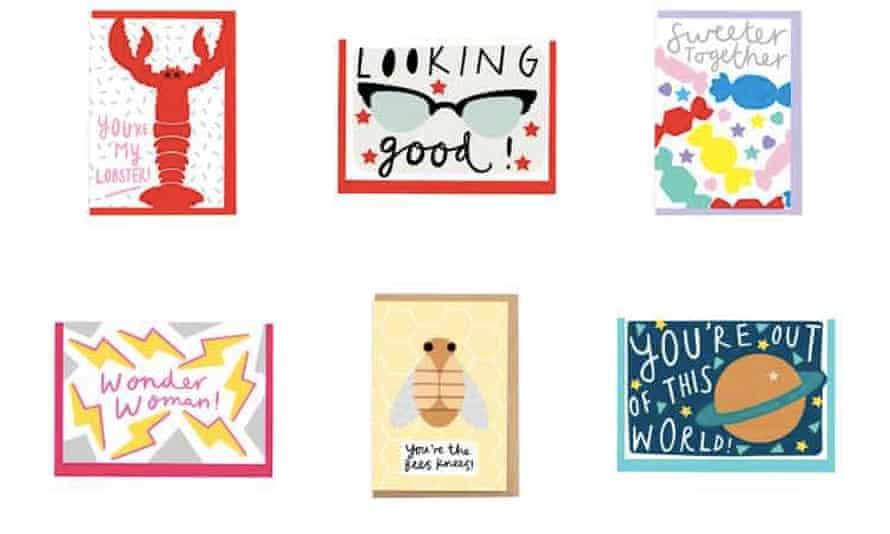 Alison Hardcastle-designed Valentine (or occasion) cards from tattydevine.com