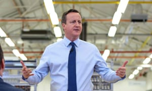 David Cameron speaks to factory staff at the Siemens manufacturing plant in Chippenham
