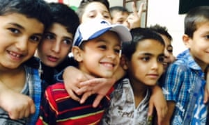 Pupils' first day at the Isaaf Kheiry school in Damascus