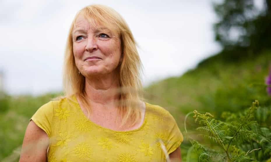 Corinne Singleton, who has lymphoedema, near her home in Cumbria.