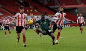Tanguy Ndombele scores Tottenham's brilliant third goal.