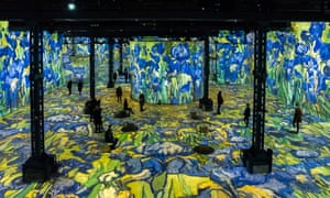 The Paris venue opened in April 2018 and more than 1.2 million people attended the first exhibit. It's operated by Culturespaces, a French museum foundation specialising in immersive displays. In just 10 years, Van Gogh painted more than 800 pictures and made over 1,000 drawings. Director Bruno Monnier says Van Gogh's colours and motifs are perfect for an immersive experience. 'Van Gogh's paintings transformed art history and digital technology can be an excellent way of understanding his world.'