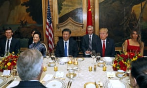 Jared Kushner, Peng Liyuan, Xi Jinping, Donald Trump and Melania Trump.