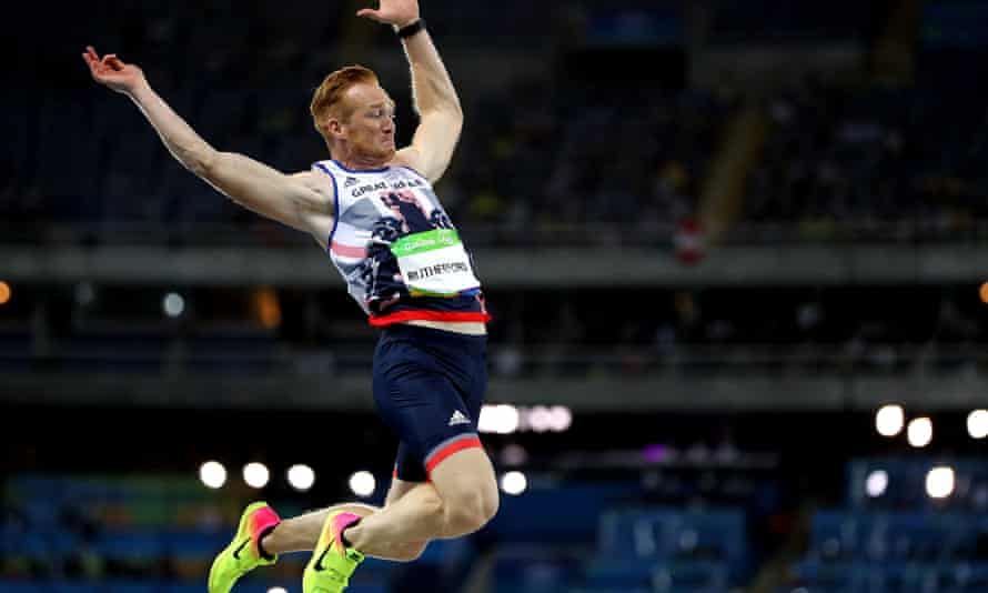 Olympic athlete Greg Rutherford jumps at the Rio Olympic Games