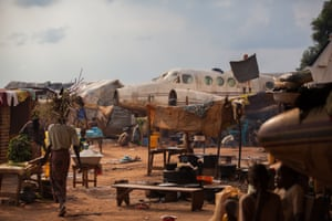 The M'Poko airport in Bangui, Central African Republic, which provided shelter to about 40,000 refugees