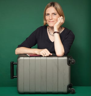Emma Graham-Harrison with her suitcase