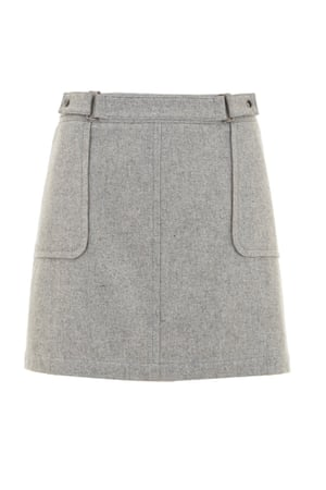 Grey patch pocket skirt