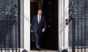 Former Brexit Secretary Dominic Raab leaves No 10.