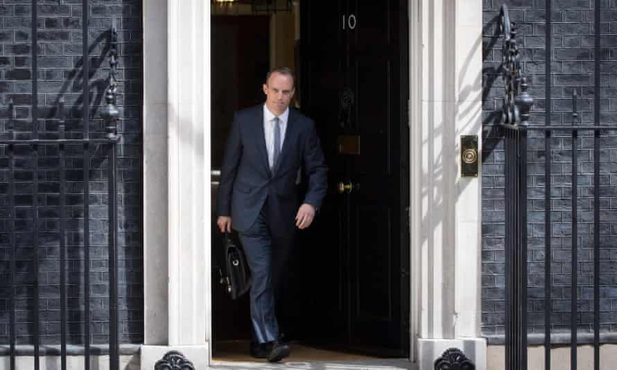 Former Brexit Secretary Dominic Raab leaves No 10.