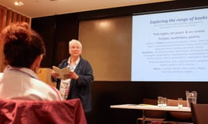 Prue Goodwin reads an extract and reflects on reading for pleasure in schools at the Guardian Education Centre Reading for pleasure conference 28 March 2019