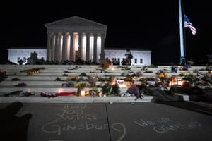 Tributes at the supreme court.