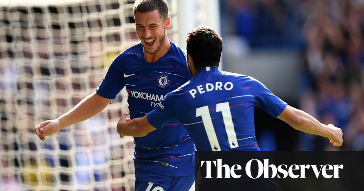 5dabf0581a9 Chelsea go top after irrepressible Eden Hazard sinks Cardiff with hat-trick