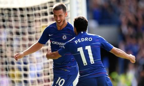 Chelsea irrepressible as Eden Hazard's hat-trick slices through Cardiff