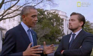 Leonardo DiCaprio and President Obama in a scene from Before the Flood.
