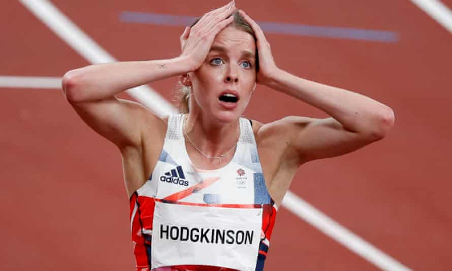 Keely Hodgkinson is stunned after winning silver for Britain in the 800m