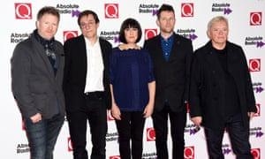 (l-r) Phil Cunningham, Stephen Morris, Gillian Gilbert, Tom Chapman and Bernard Sumner: the 2015 version of New Order.