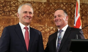 Malcolm Turnbull with New Zealand prime minister John Key in Auckland on Saturday. Turnbull responded to questions about the transfer of the woman back to Nauru.