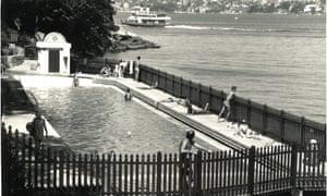 A historic photo of Maccallum pool
