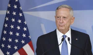 James Mattis at the Nato defence ministers meeting in Brussels on Wednesday.