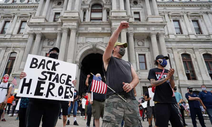 IATSE members from the entertainment industry demonstrate in Philadelphia last year.