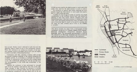 A detail from the council's Cycleways of Stevenage leaflet, circa 1975.