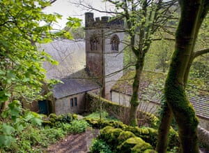 St Anne's church at Millers Dale, approached from Monks Dale.