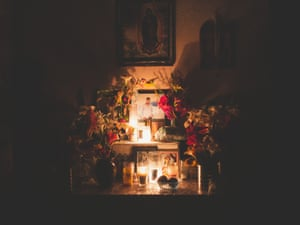 Mexico; Guerrero; Petlacala; 2018 Little altar for a young boy killed by the Tequileros. Many members of the self-defence group of Sierra of San Miguel have lost their sons, brothers, fathers and loved ones fighting against the Tequileros.