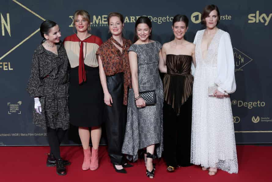 Meret Becker, Jenny Schily, Leonie Benesch, Hannah Herzsprung, Liv Lisa Fries and Fritzi Haberland at the premiere of the third season of the TV series Babylon Berlin at the Zoo Palast in Berlin, 16 December